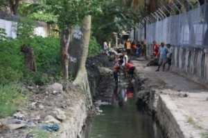 Cleaning Drainage Channel