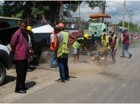 MoPW destroys rehabilitated road of bad quality