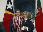 Prime Minister of Portugal in a bilateral meeting with the Prime Minister of Timor-Leste