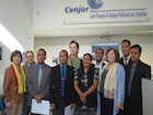 Communication Staff from the Government receive certificates for a Communication Course at the CENJOR