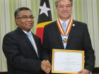 Tony Cabral receives Medal of the Order of Timor-Leste