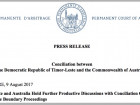 Update on Conciliation Proceedings between Timor-Leste and Australia