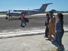 First international flight at Suai Airport