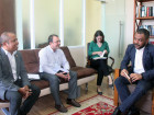 Minister of Legislative Reform and Parliamentary Affairs meets with the President of the National Bank of Commerce of Timor-Leste