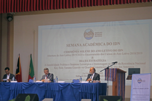 IMG 7778 300x200 IDN promotes debate on Strategy and honors Xanana Gusmão within the academic week of the institute