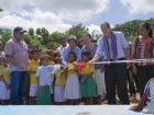 Instalação de sistema de captação de água da chuva em escola de área afetada pela seca