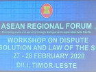 Timor-Leste Hosts The ASEAN Regional Forum Workshop on Dispute Resolution and Law of the Sea