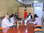 Minister of the Presidency of the Council of Ministers meets with Santos Country Manager